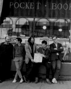 Lawrence-Ferlinghetti-Gary-Goodrow-Allen-Ginsberg-Charlie-Plymell-Philip-Whalen-1963-san-francisco