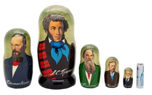 Alexander-Pushkin,Leo-Tolstoy,Anton-Chekhov,Fyodor-Dostoevsky-and-Ivan-Turgenev