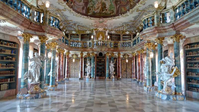 Wiblingen-Manastiri-Kutuphanesi-Ulm