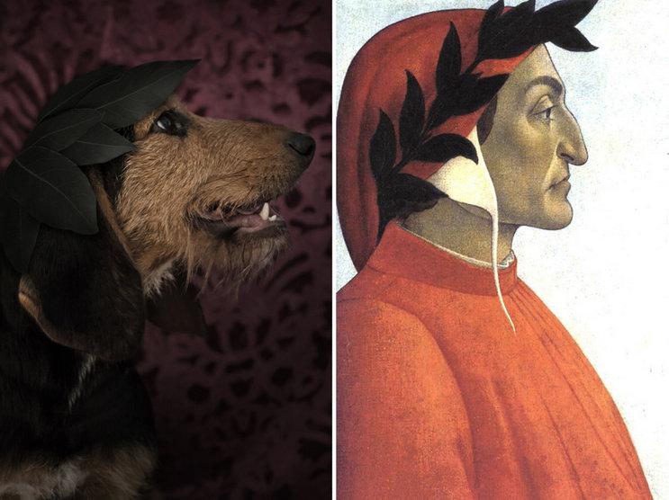 Dante-Alighieri-ve-kopek-portresi