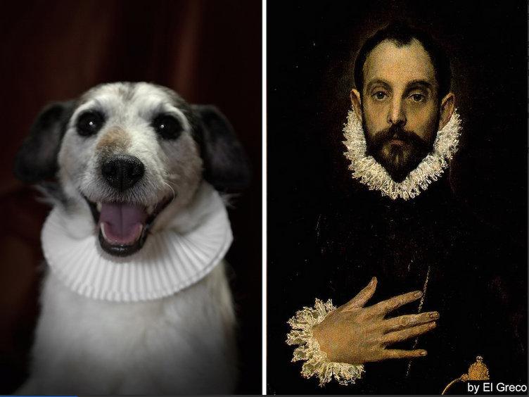 Miguel-de-Cervantes-kopek-portresi