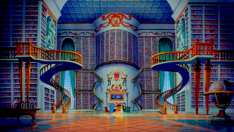 library-disney-beauty-and-the-beast-guzel-ve-cirkin