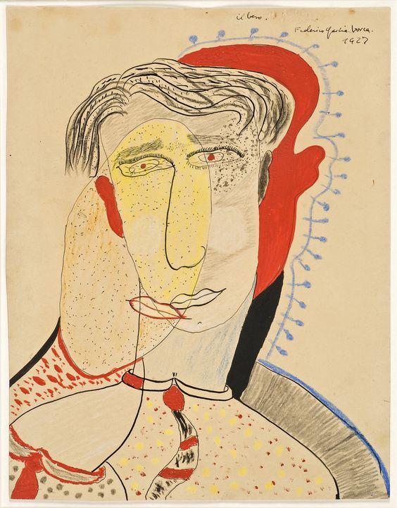 Federico-García-Lorca_El-Beso-1927-selfportrait