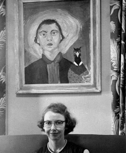 Flannery-O-Connor-1953-selfportrait-2