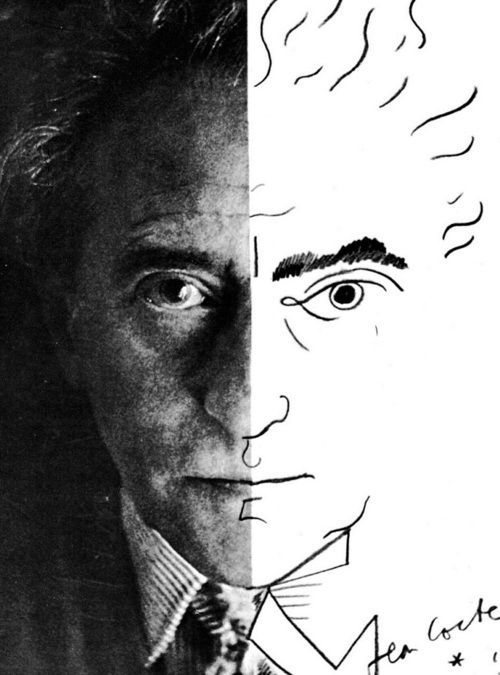 Jean-Cocteau_self-portrait-1954